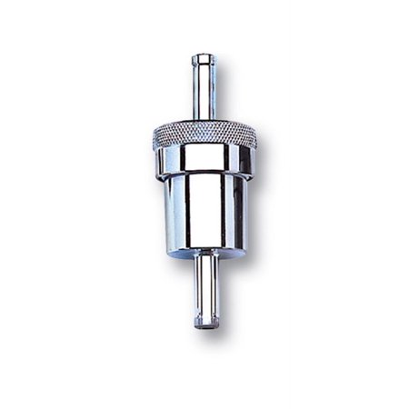 Russell Performance Chrome Street Fuel Filter (3in Length 1-1/8in diameter 3/8in inlet/outlet)