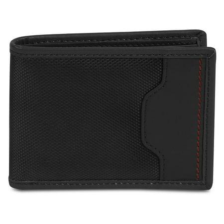 Mens Wallet Billfold, Black Deluxe Rfid Blocking Safe Id Billfold Wallet For -