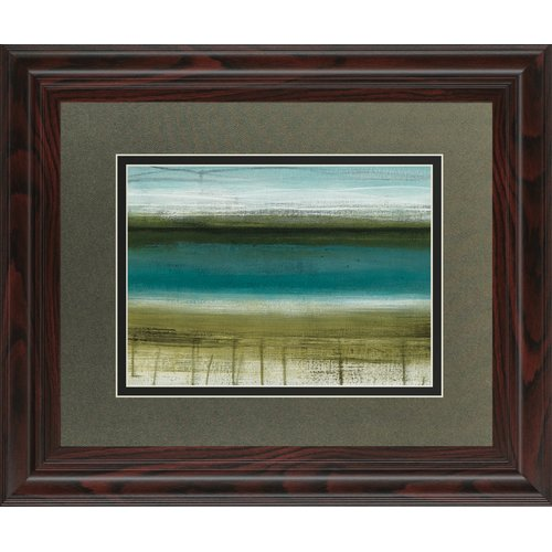 Classy Art Wholesalers Shoreline Horizons by Heather Mcalpine Framed Painting Print by Classy Art Wholesalers