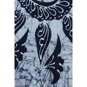 Abigails Tahiti Apron In Batik Blue and White
