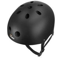 QUANFENG QF Kids Skateboard Helmet CPSC ASTM Certified Bike Skate Multi-Sport Helmet (S/Black)
