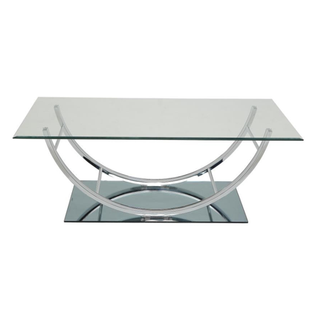 Nancy U-shaped Coffee Table Chrome ()
