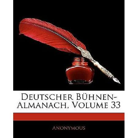 Deutscher Buhnen-Almanach, Dreiunddreissigster Jahrgang (German Edition) - image 1 of 1