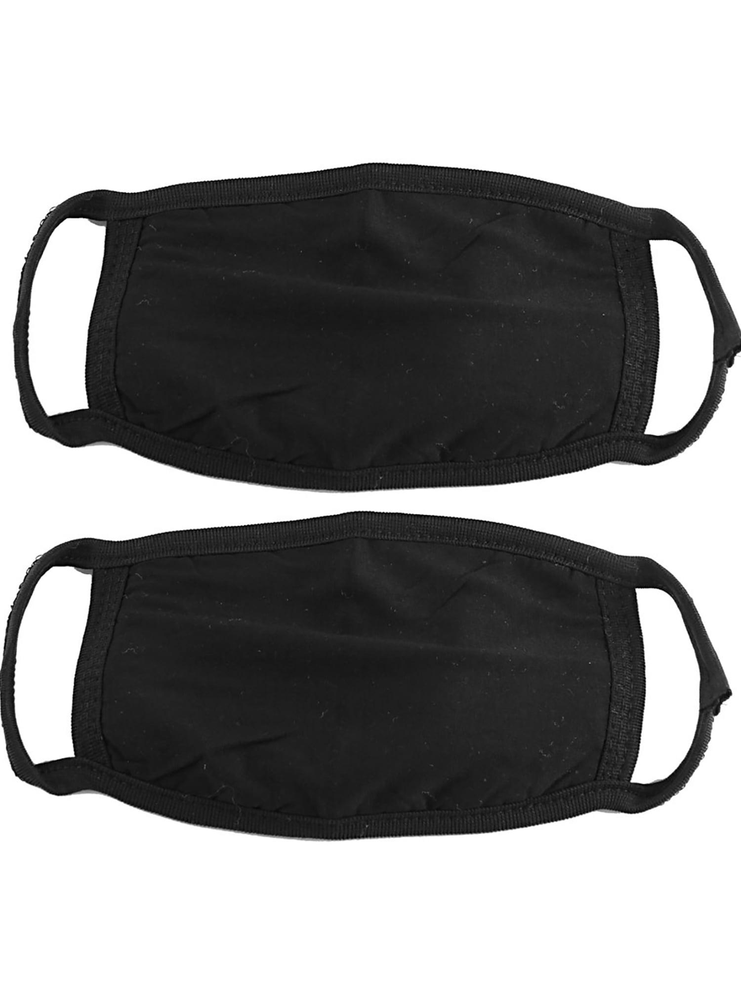 Unique Bargains 2 Pcs Lady Men Elastic Ear Loop Dust Resistance Face Mouth Mask Black by Unique-Bargains