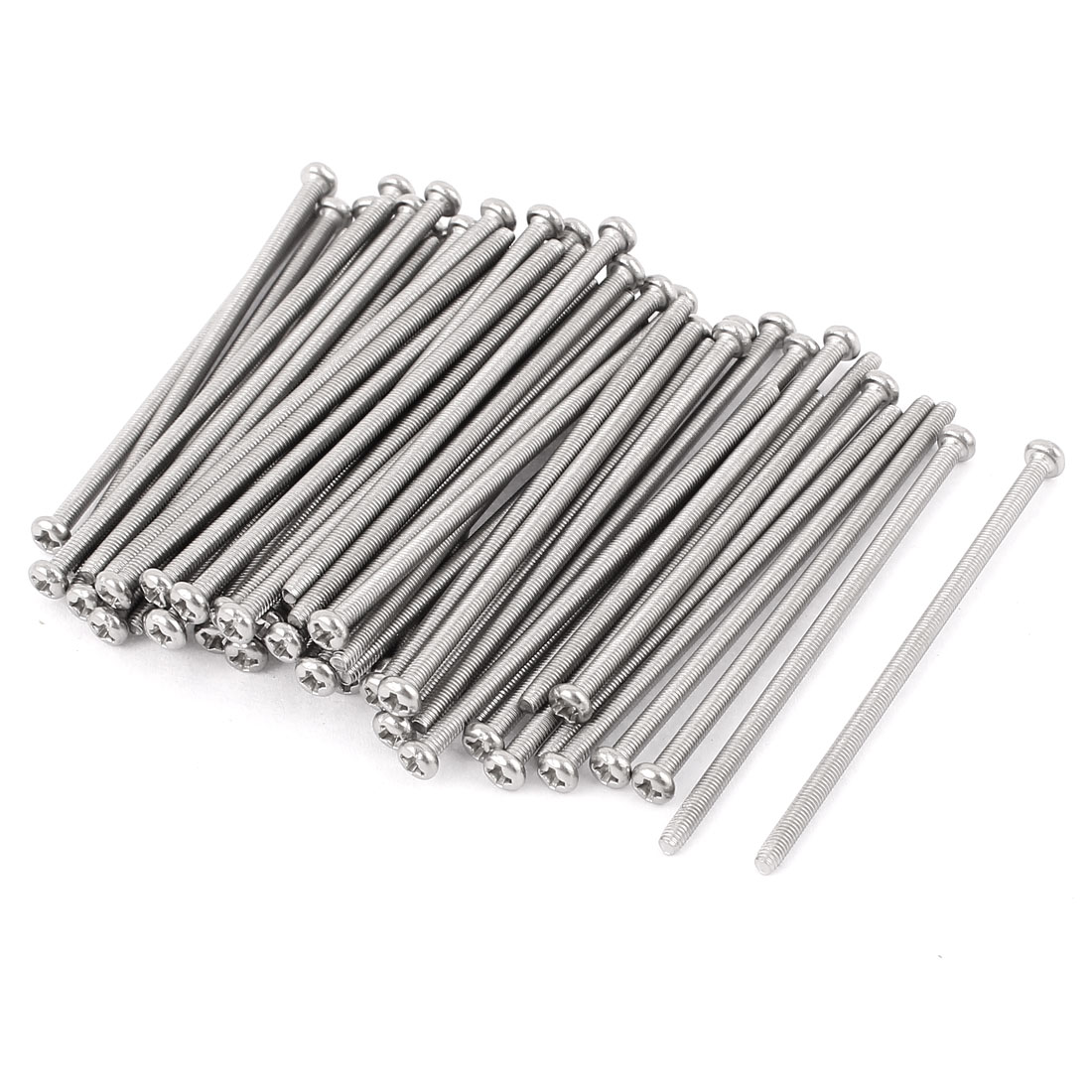 Uxcell M3 x 70mm 304 Stainless Steel Crosshead Pan Head Screws Bolt (60-pack)