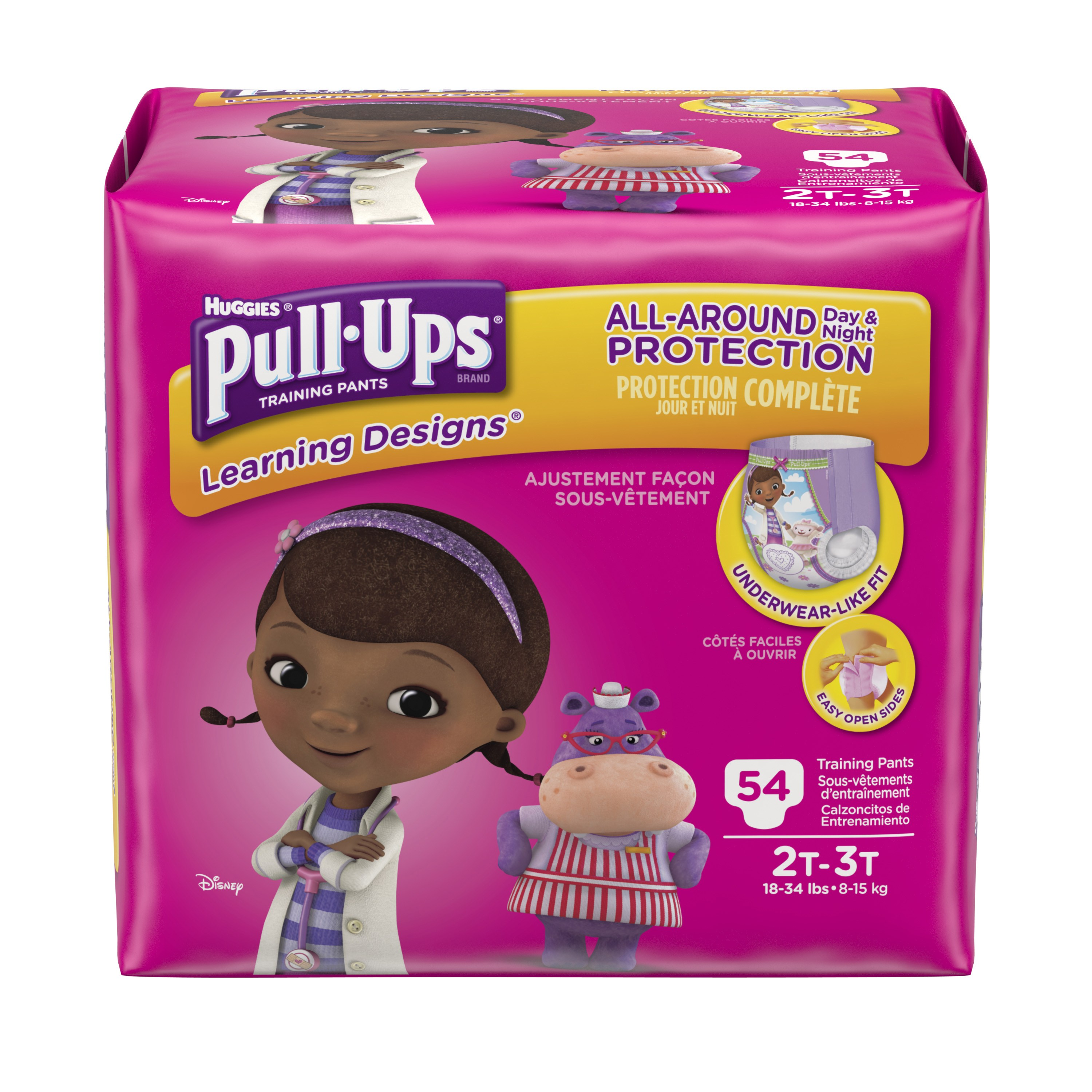 Pull-Ups Girls' Learning Designs Training Pants, Size 2T-3T, 54 Count