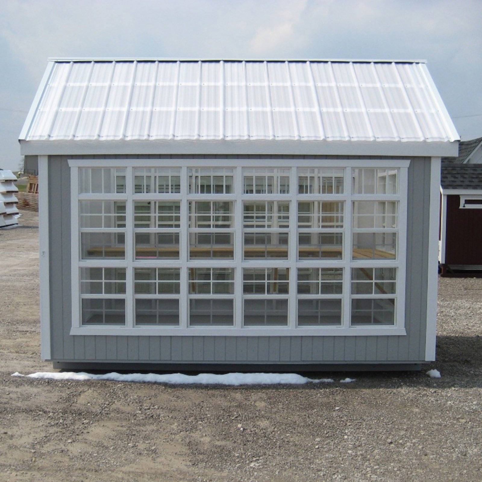 Little Cottage Colonial Gable Panelized Greenhouse with Optional Floor Kit