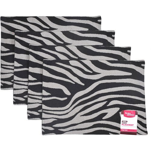 Better Homes And Gardens Zebra Placemat Set Of 4