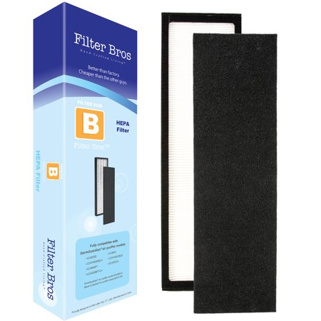 Genuine True Hepa Filter (Filter Bros FLT4825 True HEPA Replacement Filter B for GermGuardian AC4825 Home Air Cleaner Purifiers, AC4300BPTCA / AC4850PT with Pet Technologies, AC4900CA Systems Captures Allergies/Pets / Germ)