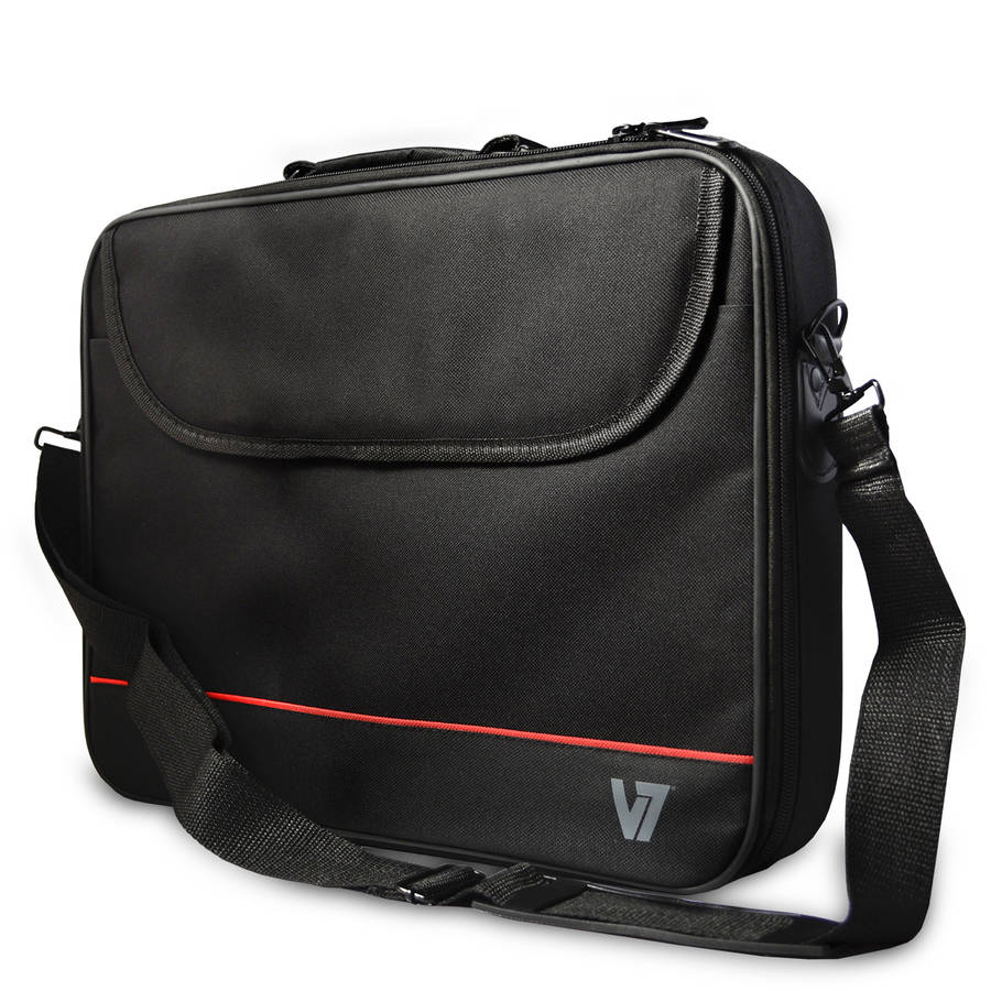 "V7 16"" Essential Laptop Bag Carrying Case, Black"