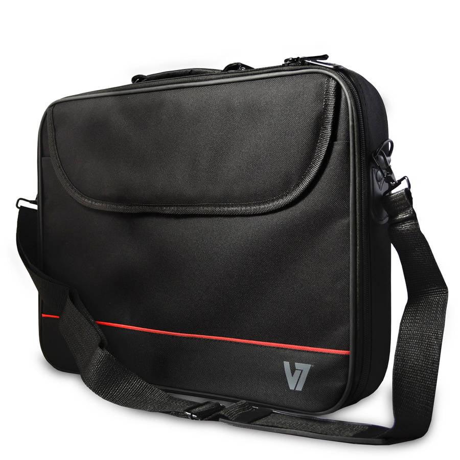 """V7 16"""" Essential Laptop Bag Carrying Case, Black"""