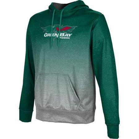 ProSphere Men's University of Wisconsin Green Bay Ombre Pullover Hoodie - Halloween City Green Bay Wisconsin