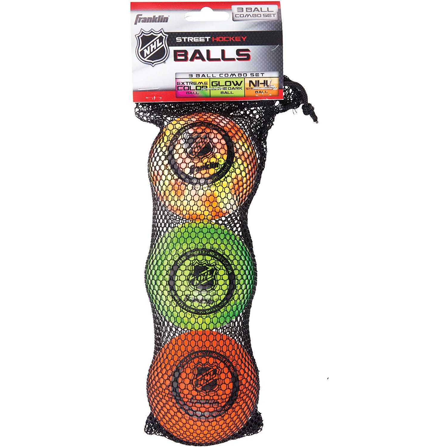 NHL Street Hockey Ball Combo (Pack of 3) By Franklin Sports by