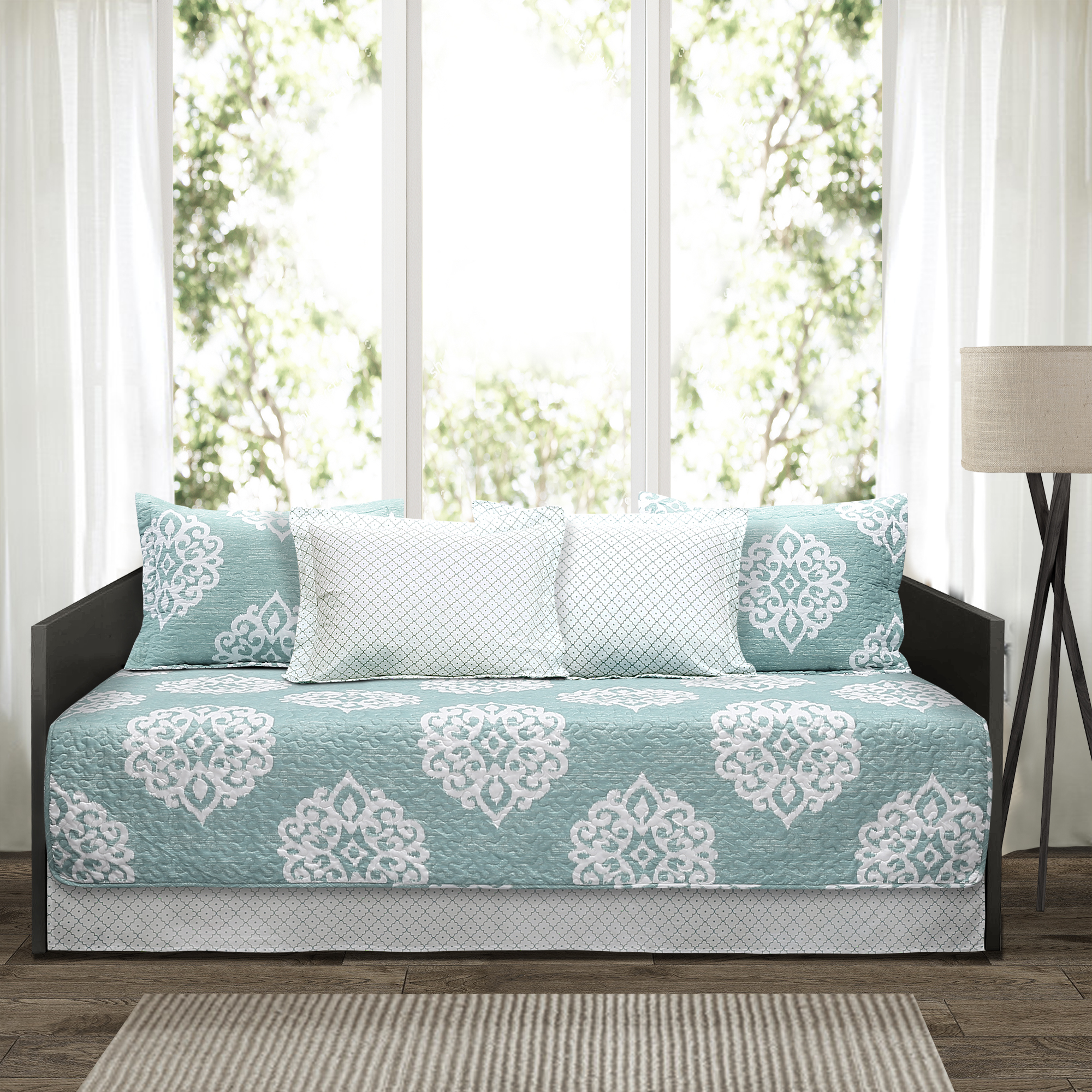 Sophie Blue 6Pc Daybed Cover Set 39x75