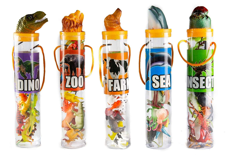 Kovot Mini Animal Toys in Tubes 69-Piece Set | Includes A