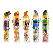 Kovot Mini Animal Toys in Tubes 69-Piece Set   Includes A Variety of Zoo, Farm, Sea, Insects & Dinosaur Figures   5 Separate Containers (5 Tubes (Complete Set))
