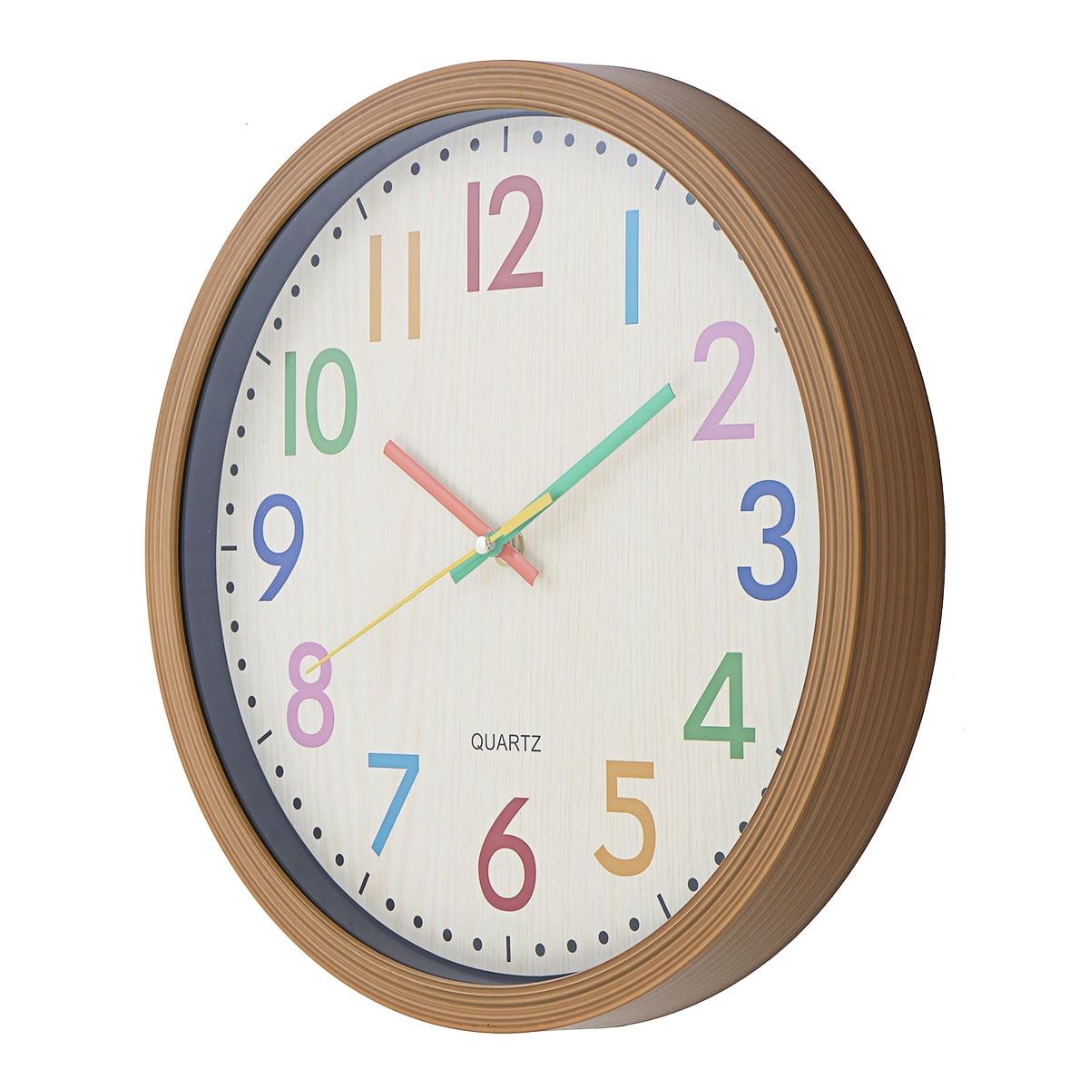 12 Silent Wall Clock Non Ticking Decor