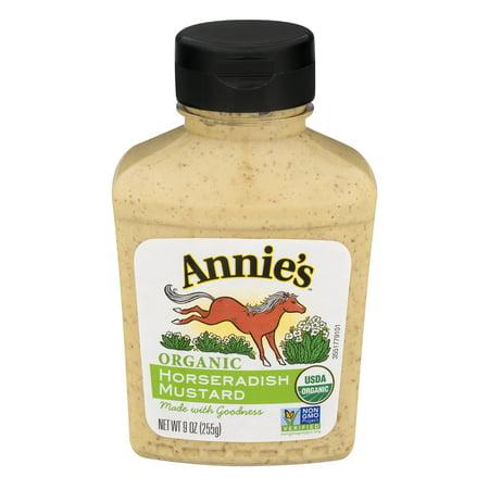 Annie's Organic, Gluten Free Horseradish Mustard, 9 oz Dijon Gluten Free Mustard