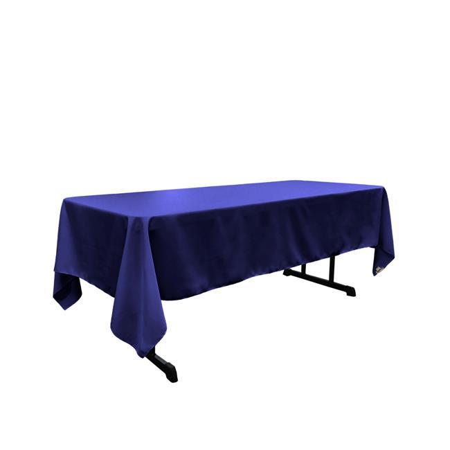 LA Linen TCpop60x120-RoyalP50 Polyester Poplin Rectangular Tablecloth, Royal - 60 x 120 in. - image 1 of 1