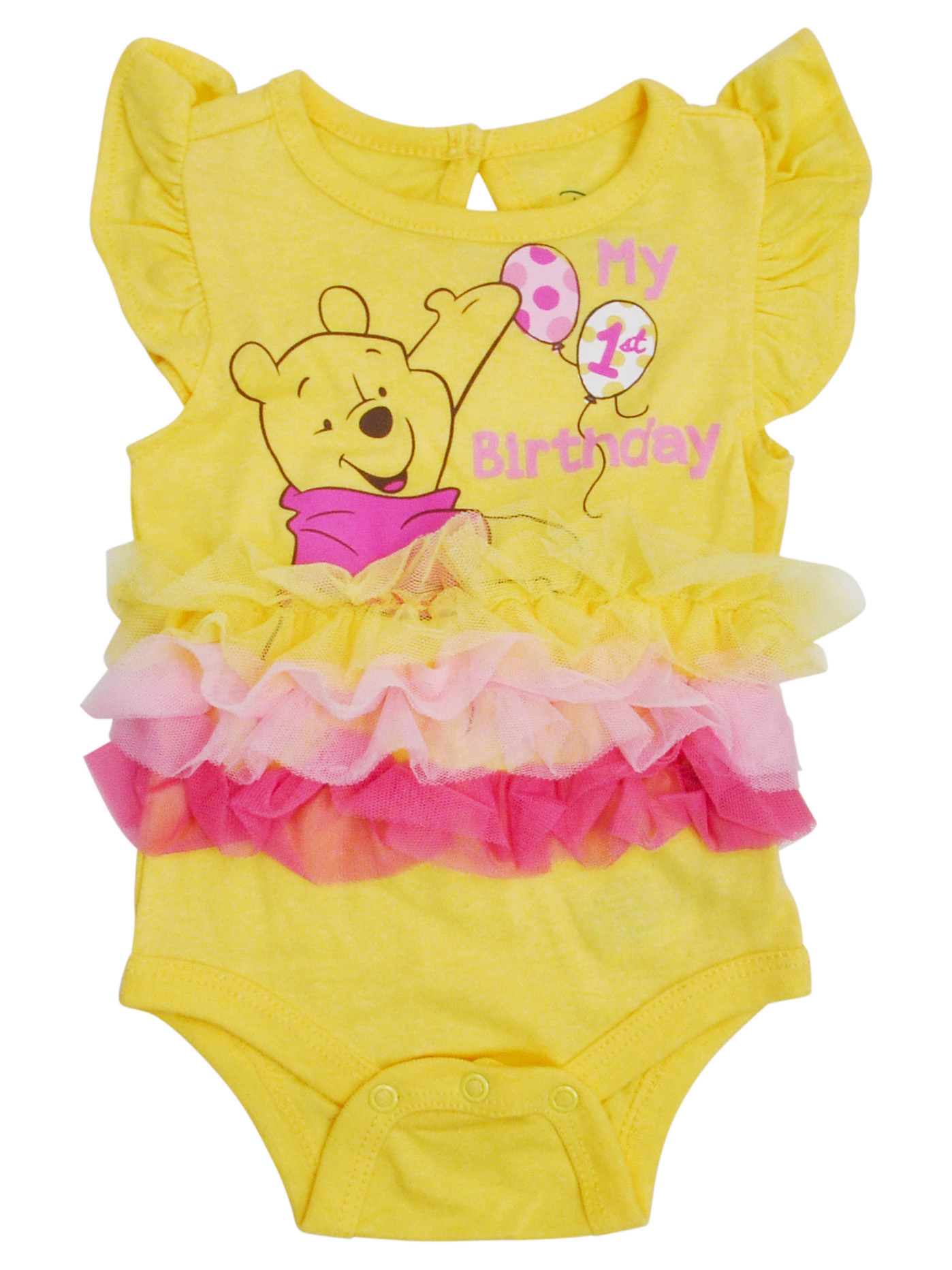 Infant Baby Girls Winnie The Pooh Tutu Bodysuit My 1st Birthday One-Piece