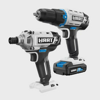 HART 20-Volt Cordless 2-Piece 1/2-inch Drill and Impact Driver Combo Kit (1) 1.5Ah Lithium-Ion Battery