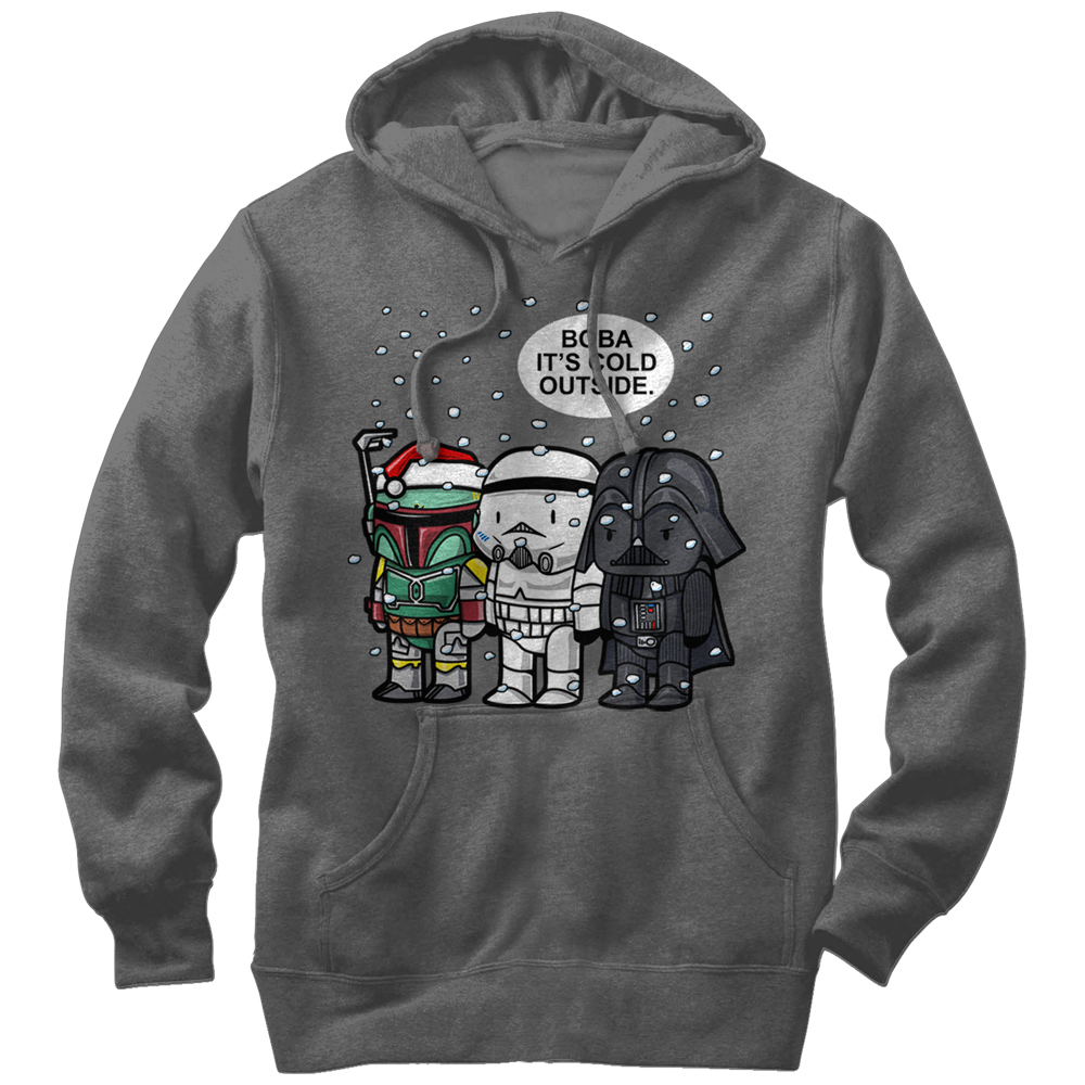 Star Wars Men's Christmas Boba It's Cold Outside Hoodie