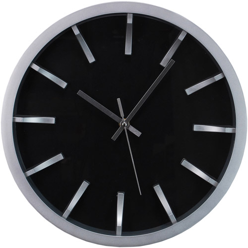 "Modern Watch Design 12"" Wall Clock with 3D Dial and Silver Profile"