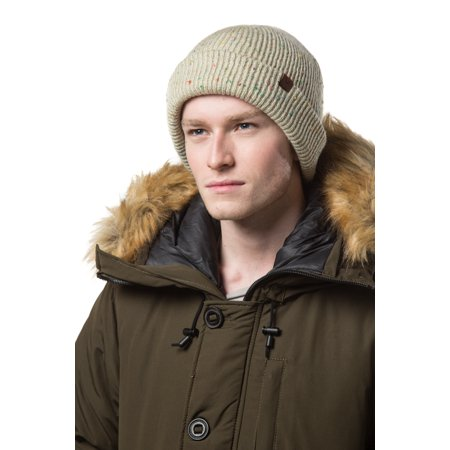 f93860bfe5e Gallery Seven - Gallery Seven Mens Knit Winter Beanie Hat - Knit Watch Cap  - Gift Pack - Oatmeal Speckle - Walmart.com
