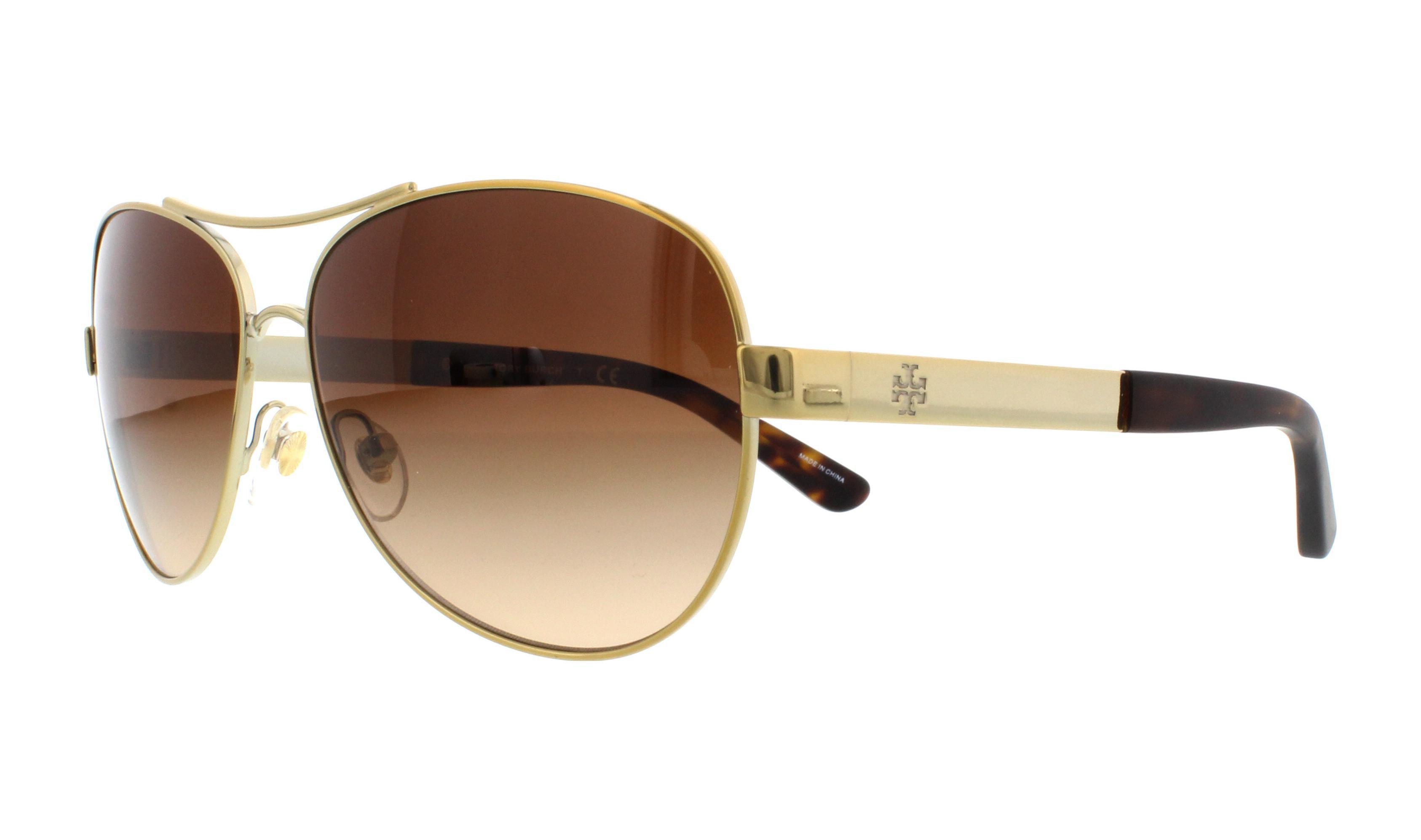 de02623652ea Tory Burch - TORY BURCH Sunglasses TY6047 316013 Gold 59MM - Walmart.com