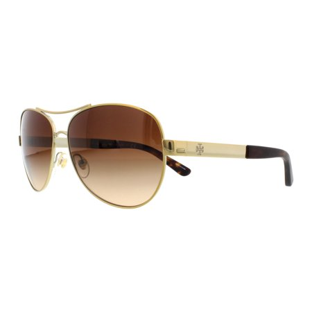 a23b017bee0 Tory Burch - TORY BURCH Sunglasses TY6047 316013 Gold 59MM - Walmart.com