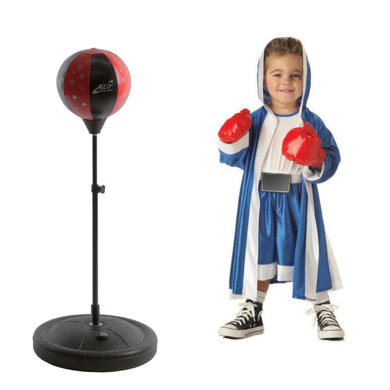 Kid Children Boxing Glove Stand Exercise Equipment Boys Fitness Speed Ball Stand by Apontus