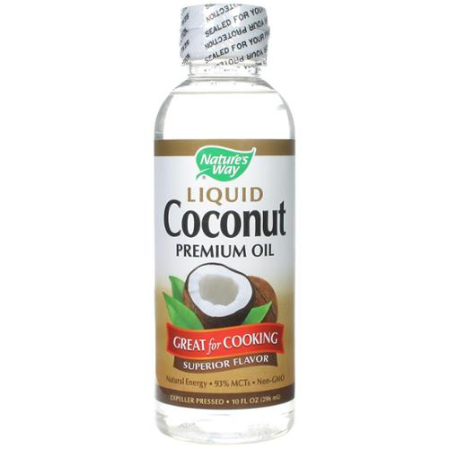 Nature's Way Liquid Coconut Premium Oil 10 oz (Pack of 3)