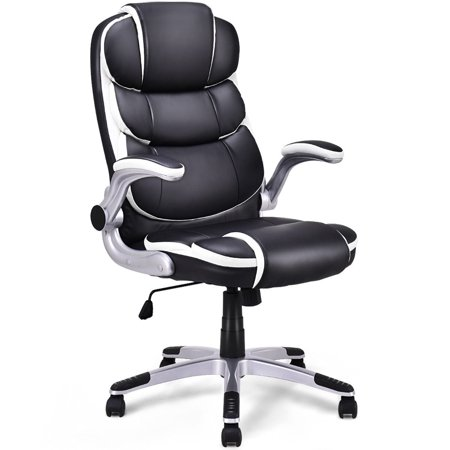 Executive Office Package - Costway PU Leather High Back Executive Office Chair Swivel Desk Task Computer Ergonomic