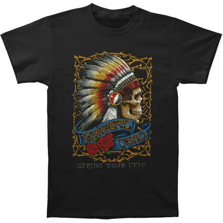 Grateful Dead Mens  Spring Tour 90 T Shirt Black