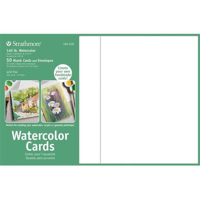 Strathmore ST105-210 Full Size Watercolor Cards with Envelopes Sets