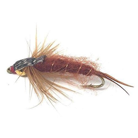 Feeder Creek Fly Fishing Flies - Bead Head STONEFLY Brown - 12 Wet Flies - 3 Sizes