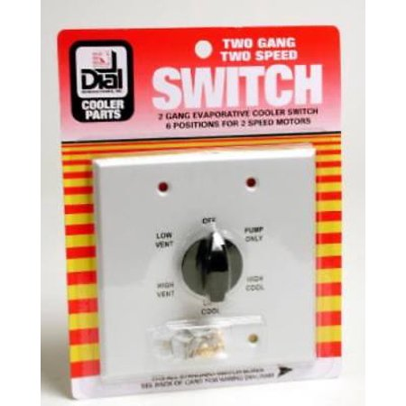 Metal 2 Speed 6 Position Evaporative Cooler Wall Switch -