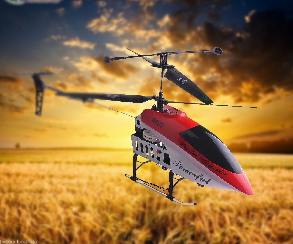 Blue Red 2 Speed GT QS8005 3.5 CH RC Helicopter Red by