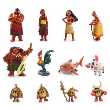 5 8Cm 12Pcs Disney Movie Moana Decoration Toys