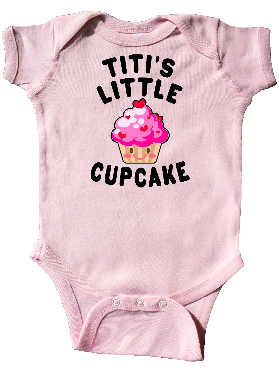 Inktastic Poppys Little Cupcake Baby Bib Food Sweets Cute Toddler Youth Gift