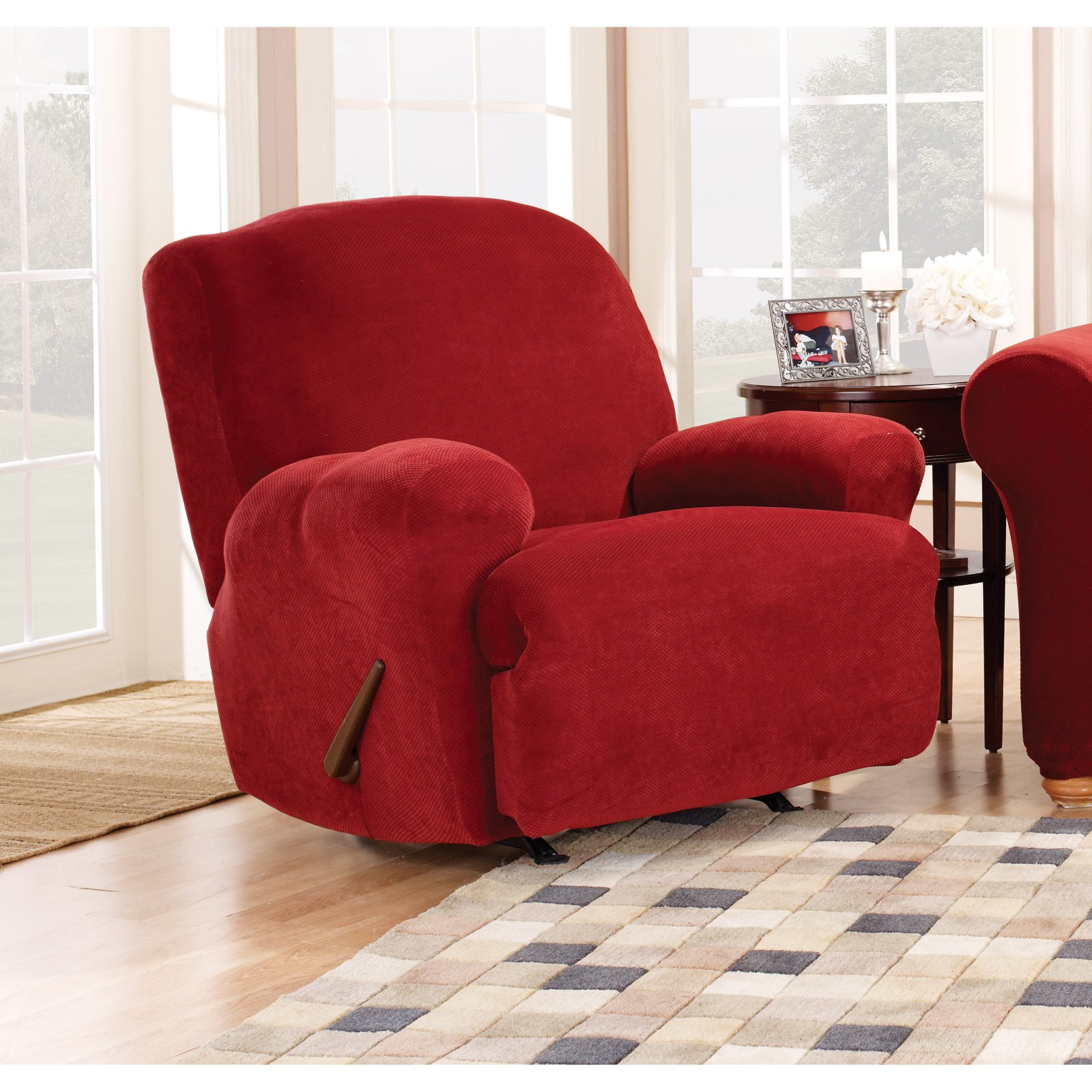 Sure Fit Stretch Pique Recliner Slipcover
