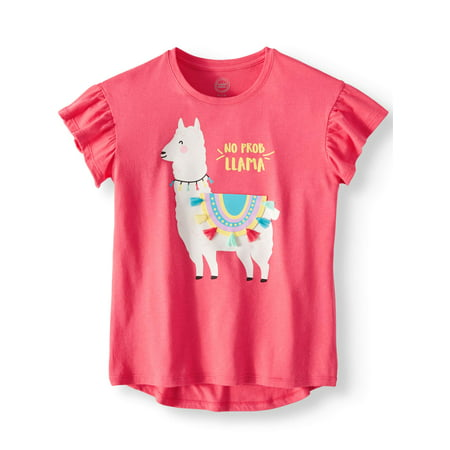 Girls Short Sleeve Tee (Short Sleeve Embellished Tee (Little Girls, Big Girls, &)