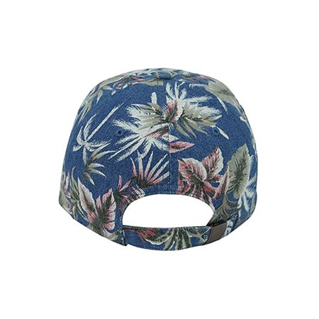 Top Headwear Denim Floral Print Cap - Light Blue - image 1 of 2