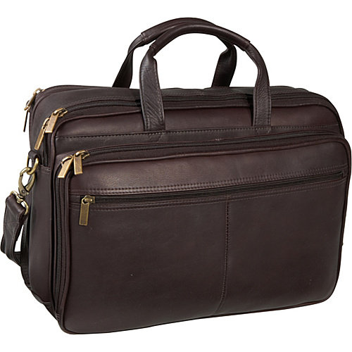 Le Donne Leather Two Compartment Computer Brief