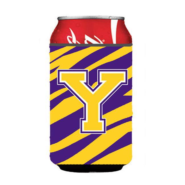 Carolines Treasures CJ1022-YCC Monogram - Tiger Stripe - Purple Gold Can Or Bottle  Initial Y - image 1 of 1