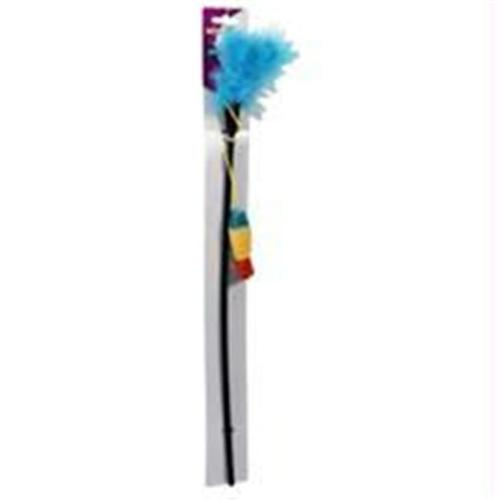 Ethical Pets Fun Feathers Fish Teaser Wand Catnip Toy by Ethical Products Inc