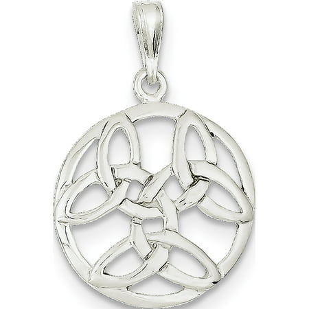 Leslies Fine Jewelry Designer 925 Sterling Silver Celtic Knot (20x31mm) Pendant Gift