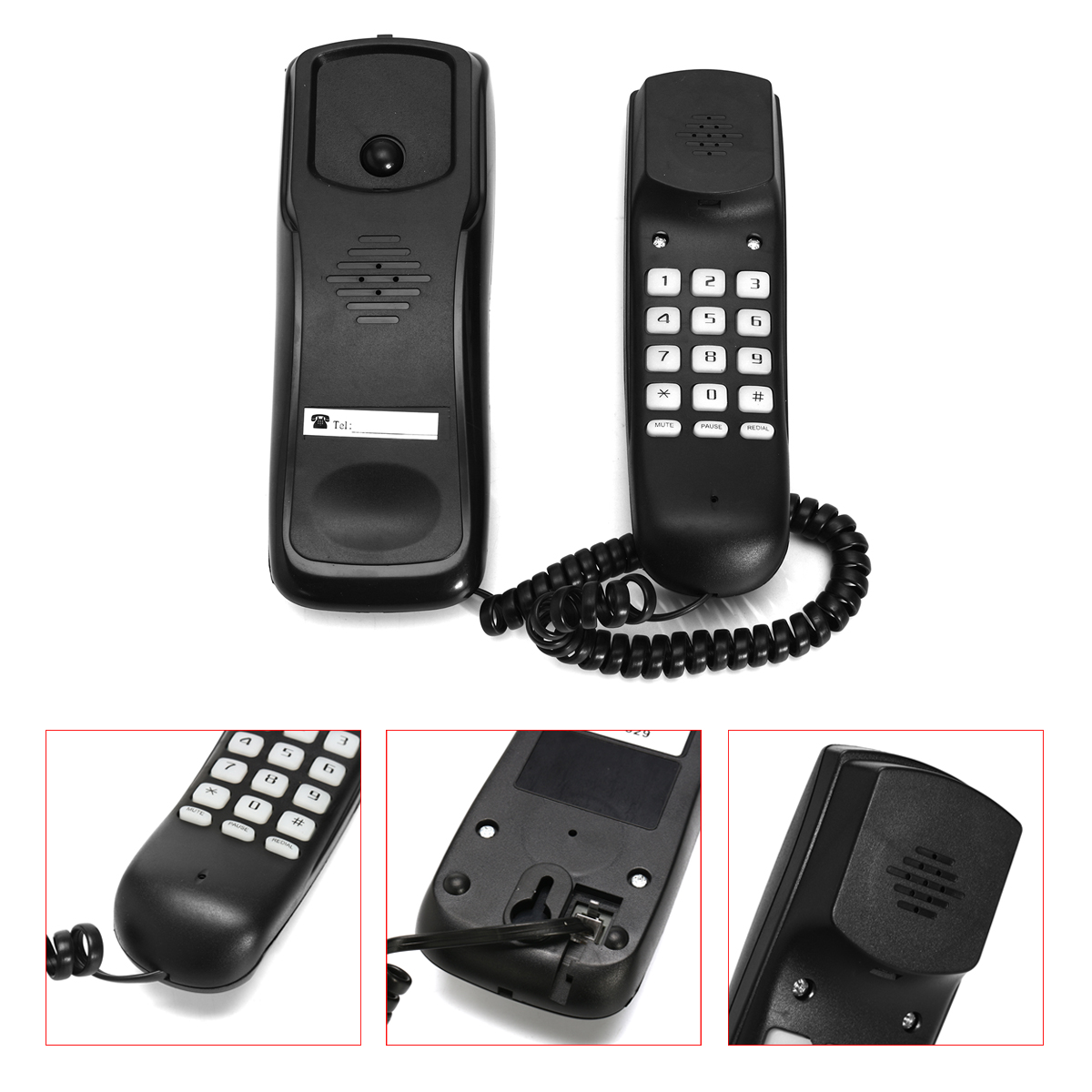 Advanced Telephones Wall Mountable Home Corded Phone, Phones For Seniors with Telephone Land