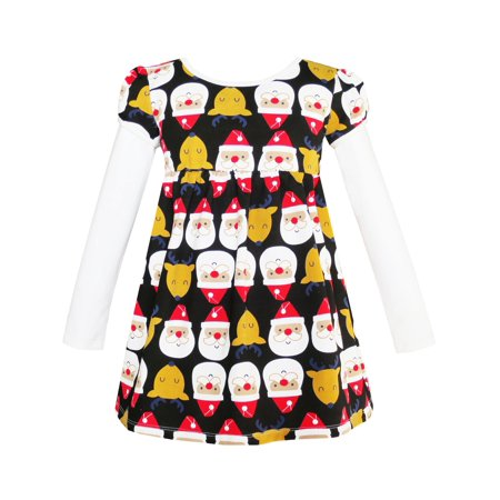 Girls Dress Christmas Santa Reindeer 2-in-1 Top Dress 2 - Cute Santa Dresses