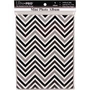 Ultra PRO 58204-R Mini Photo Album, 4 by 6-Inch, Chevron Black/White Multi-Colored